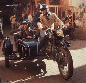 Motorbike with sidecar in Marrakech