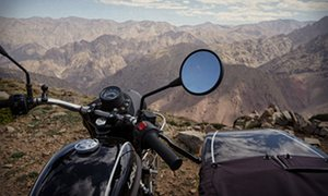 View over the nearby Atlas mountains.