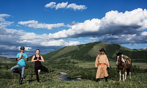 Horse riding and yoga in Mongolia