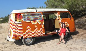 Jane Dunford, campervan and yoga in ibiza