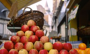 Apples for sale in Normandy