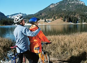 Spitzingsee cycling.