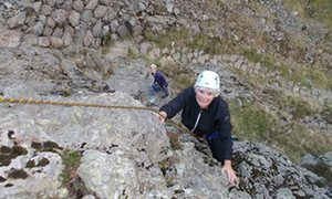 Dorothy Russell tackling peaks in the Lake District.