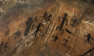 Cave paintings in the Grotta del Genovese, Levanzo.