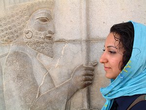 Iran. Girl at Persepolis, 2004.