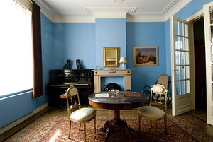 A room at the René Magritte Museum.