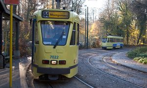 Scenic and picturesque route number 44 tram from Montgomery to the village of Tervuren east of the centre of Brussels