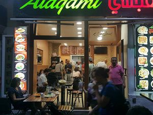 Alagami restaurant, staffed by recent arrivals from Syria.