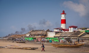 Jamestown Lighthouse, in the old town of Accra