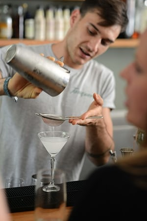 The Mothers Ruin gin bar, which stocks more 144 varieties of gin in Cape Town city centre.