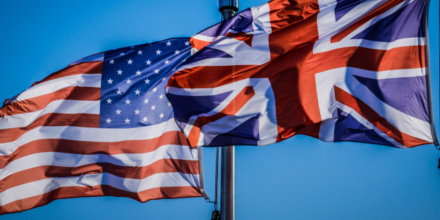 USA and ENGLAND FLAGS