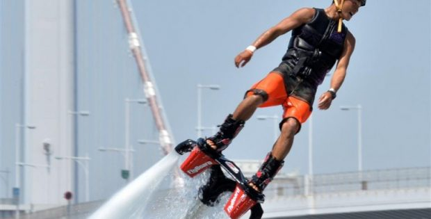 Flyboarding is an extreme sport that you can experience in Malaysia