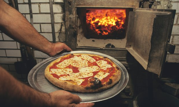 Hot stuff … the restaurant's coal-fired oven