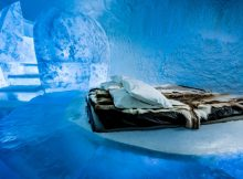 Well cool … a deluxe suite at the Ice Hotel365.